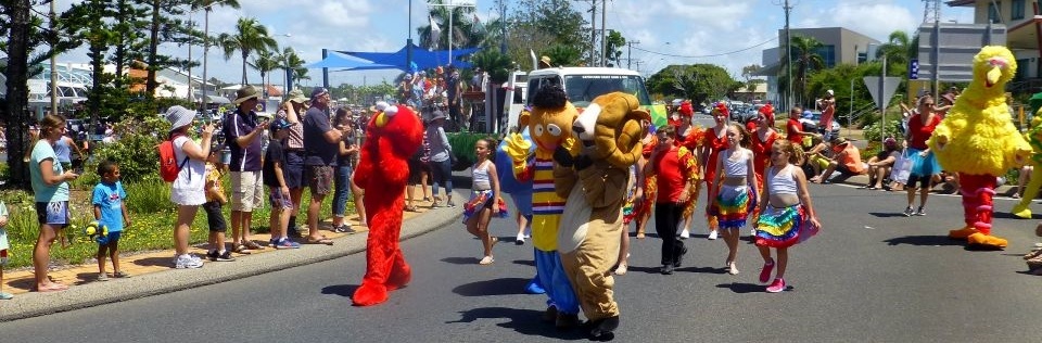 Colourful Parade Characters